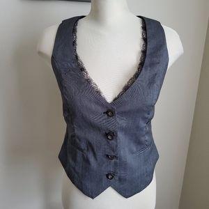 Top Studio Grey Sleeveless Vest Size 40